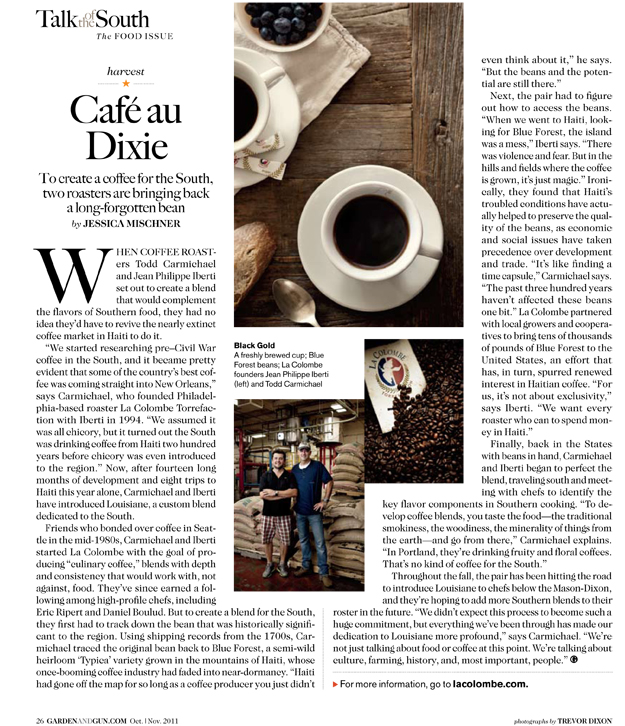 Garden and Gun Magazine Cafe au Dixie The Daily Grind