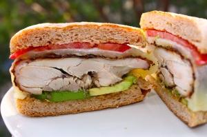 chicken sandwich cut